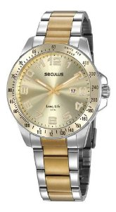 Relógios Seculus Masculino Redondo Champagne 20854gpsvba1
