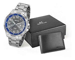Relógios Seculus Masculino Redondo Cinza 20578g0svna1k
