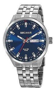 Relógios Seculus Masculino Redondo Prata 20798g0svna1