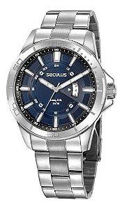 Relógios Seculus Masculino Redondo Prata 35023g0svna2