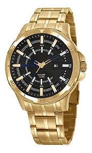 Relógios Seculus Masculino Redondo Preto 20746gpsvda3