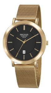 Relógios Seculus Masculino Redondo Preto 23659gpsvda1