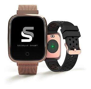 Relógios Seculus Unissex Quadrado Smart 79006mpsvre3