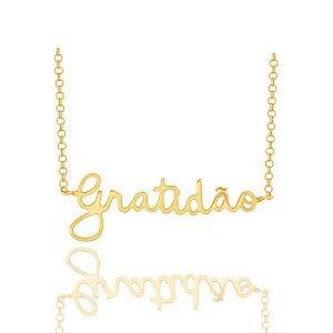 Gargantilha Gratidão Ouro 18k 750
