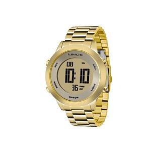 Relógio Feminino Lince Digital Dourado