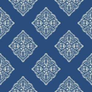 Papel de Parede Geométrico Náutico Vinilizado Azul AT 7030