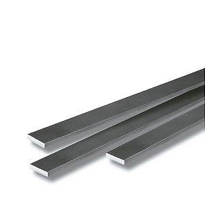 Barra chata de alumínio natural - (venda por barra de 3 m)