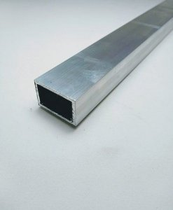 "Tubo retangular de alumínio 2 X 1"" - (venda por barra de 3m)"