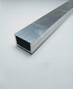 "Tubo retangular de alumínio 2 X 1/2"" - (venda por barra de 3m)"