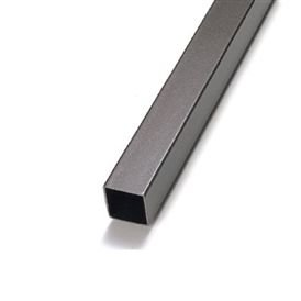 """Tubo quadrado de alumínio 1"""" - (venda por barra de 3m)"""