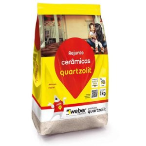Rejunte 5kg flexível cerâmicas Quartzolit