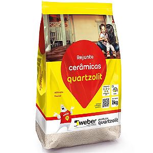 Rejunte 1kg flexível cerâmicas Quartzolit