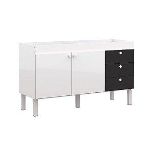 Gabinete em madeira 144cm Sabiá Cozimax