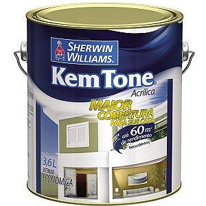 Tinta acrílica 3.6lt econômica fosco Kem Tone Sherwin Williams