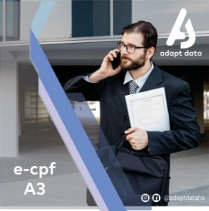 E-CPF A3 DE 1 ANO EM TOKEN