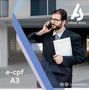 E-CPF A3 DE 3 ANOS EM CARTÃO