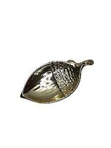 Prato Formato Pinha Ouro Médio