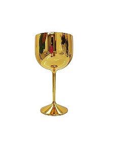 Taça Gin Metalizada Dourada 550ML
