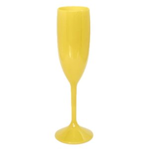 Taça Champagne Amarelo 180ML