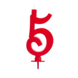 Vela Grande Vermelha N° 5