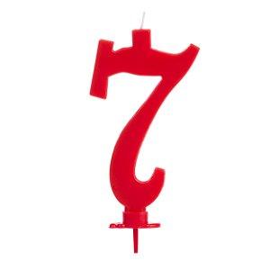 Vela Grande Vermelha N° 7