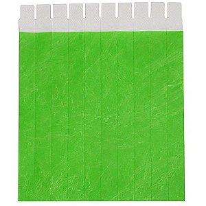 Pulseira Identificação Verde Fluorescente com 50 unidades