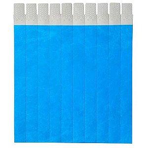 Pulseira Identificação Azul Fluorescente com 50 unidades