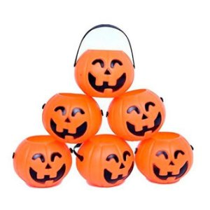 Kit Baldinho Abóbora Halloween Pequena