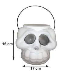 Baldinho Cabeça Esqueleto Grande Halloween