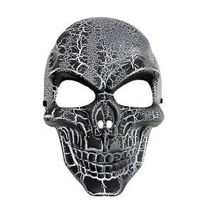 Máscara Caveira Craquelada Halloween
