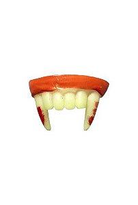 Dente de Vampiro com Sangue Decorativo Halloween