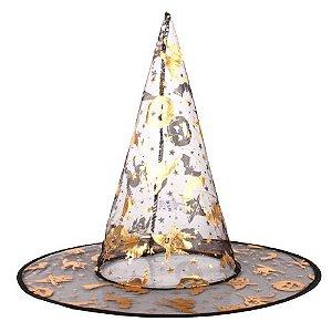 Chapéu de Bruxa Transparente Halloween