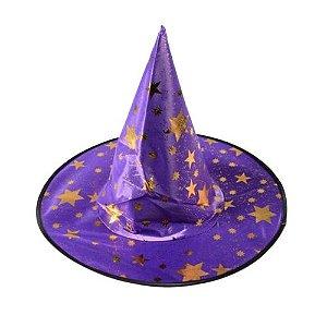 Chapéu de Bruxa Estampado Cores Halloween