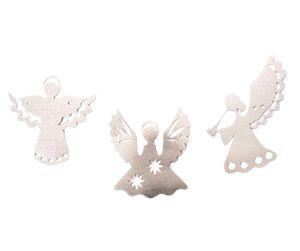 Varal de Anjo de Papel Metalizado Prata