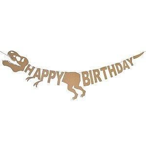 Banner Dinossauro Happy Birthday