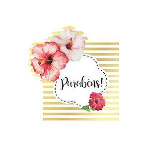 Topper de Bolo Floral Jardim Encantado