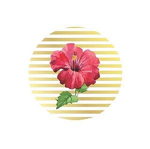 Adesivo Redondo Floral