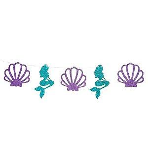 Varal Decorativo Sereia e Conchas