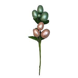 Galho Pick Ovo Rosa Verde 24cm