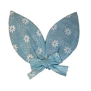 Orelha de Coelho com Presilha Azul 16,5 cm