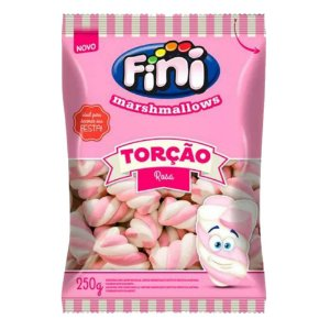 Marshmallow Torção Rosa 250 g
