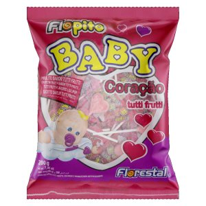 Pirulito Baby Coração Tutti-Frutti 200 g