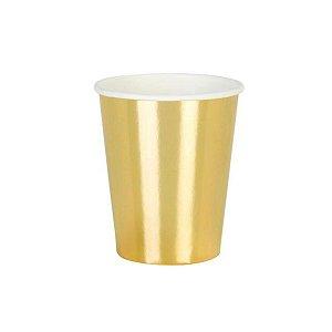 Copo de Papel Liso Dourado