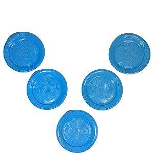 Prato 15 CM Biodegradável Azul Claro