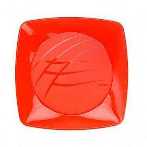 Prato Quadrado Médio- Vermelho