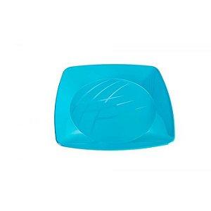 Prato Quadrado- Azul Bebe
