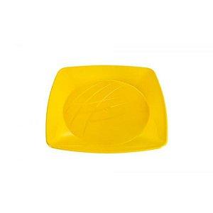 Prato Quadrado Médio - Amarelo