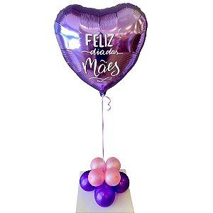 Balão Metalizado Dia das Mães com Gás Hélio.