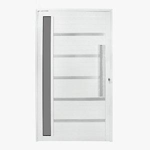 porta pivotante com friso e vidro