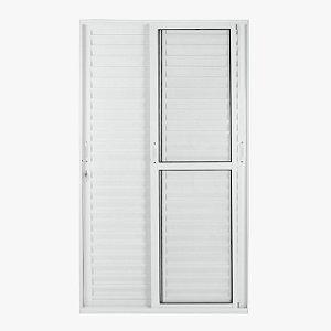 porta balcão veneziana 3 folhas móveis branca